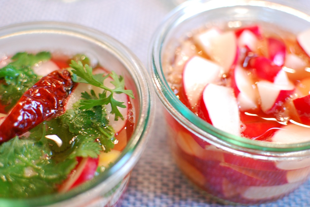 Radish quick pickles