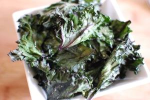 Crispy kale chips: a delicious cop-out