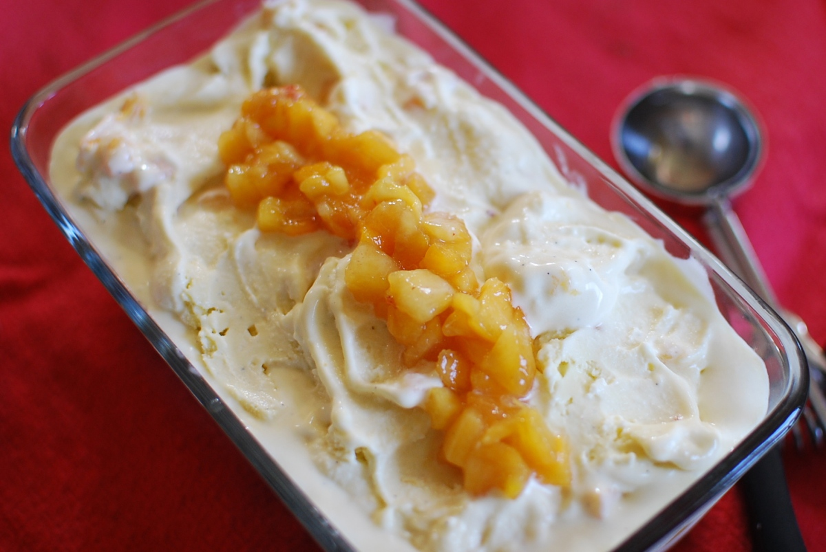 Churn, Baby, Churn: Real Peach Ice Cream
