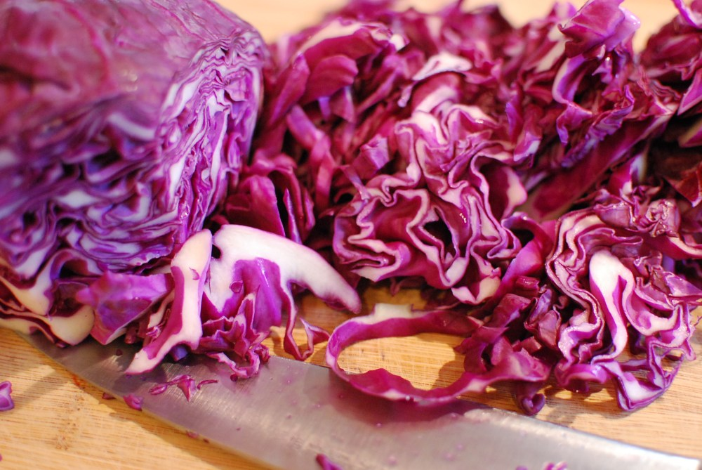 Cabbage ribbons