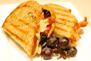 The CBGP - cheese-bacon-grape panini