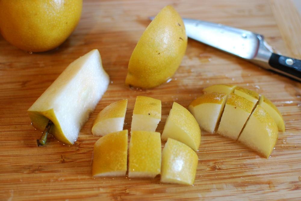 Cut pears