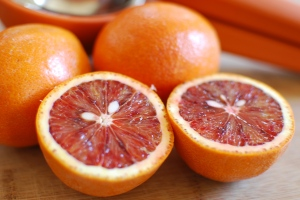 Blood oranges lend a terrific tart-sweet zap to the deep, dark greens that dominate our region's late-winter CSA shares.