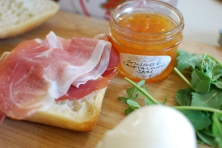 Cantaloupe jam with prosciutto and mozz, natch.